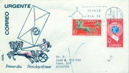 1971 , SOBRE DE PRIMER DIA , ED. 2041 / 2042 , ALEGORIAS - FDC