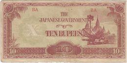 Birmania - Burma 10 Ruppes 1942 Pick 16.b.1 Ref 1562 - Myanmar