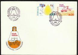 Portugal 1980 / Save Energy / Energia / Light Bulb, Car / FDC - FDC