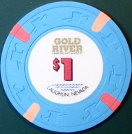 $1 Casino Chip. Gold River, Laughlin, NV. M39. - Casino
