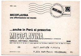 DEAR DOCTOR TYPE PUBL. MICOFLAVINA / ZAMBON - PERU-LAMA - Perù