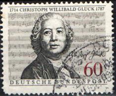 GERMANIA - 1987 - BICENTENARIO DELLA MORTE DI CHRISTOPH WILLIBALD GLUCK - COMPOSITORE - USATO - Oblitérés