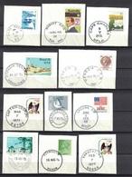 Nice Cancel / Postmark / Chop / Spempel On 18 Peaces Of Paper, 2 Scan's - Verzamelingen (zonder Album)
