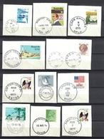Nice Cancel / Postmark / Chop / Spempel On 18 Peaces Of Paper, 2 Scan's - Postzegels