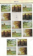 Bhutan 1968, Paintings Of Van Gogh, Millet, Monet, Corot **, MNH (missing Mi. # 221) - Bhutan