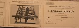 Dépliant L. TERRAILLON Manufacture D'Horlogerie Pour édifices Perrigny / Jura - Publicités