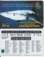 U.A.E. - Shark(reverse 7), Etisalat Prepaid Card Dhs 30, Used - United Arab Emirates