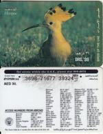 U.A.E. - Bird, Hoopoe(reverse 4), Etisalat Prepaid Card Dhs 30, Used - United Arab Emirates