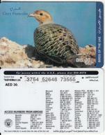 U.A.E. - Bird, Grey Francolin(reverse 4), Etisalat Prepaid Card Dhs 30, Used - United Arab Emirates