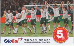 BULGARIA - Football, GloBul Prepaid Card 5 Leva(matt Surface), Tirage 10400, Sample - Bulgaria