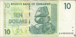 Zimbabwe 10 Dollars 2007 Pick 56 Ref 1567 - Zimbabwe