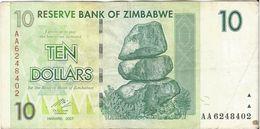 Zimbabue - Zimbabwe 10 Dollars 2007 Pick 56 Ref 1567 - Zimbabwe
