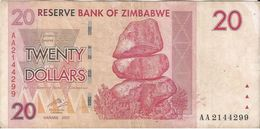 Zimbabwe 20 Dollars 2007 Pick 68 Ref 1568 - Zimbabwe