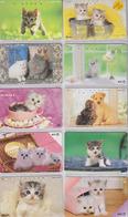 Lot  De 10 TELECARTES Japon Différentes - ANIMAL - CHATS CHAT - CAT CATS Japan Phonecards - KATZE KATZEN TK - 4057 - Katten
