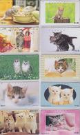 Lot  De 10 TELECARTES Japon Différentes - ANIMAL - CHATS CHAT - CAT CATS Japan Phonecards - KATZE KATZEN TK - 4058 - Japón