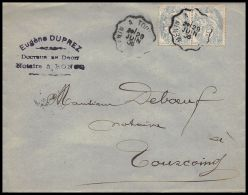 1404 Lettre (cover) N°111 Type Blanc 29/06/1936 Convoyeur Tourcoing - Postmark Collection (Covers)