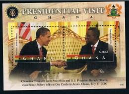 R1711 Ghana 2012 US President Obama Ghana Flag 1MS Full 0921 - Stamps