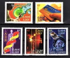 FRANCE 2001 - SERIE  Y.T. N° 3422 A 3426 - NEUFS** - Frankreich
