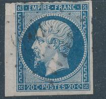 N°14 BORD DE FEUILLE PETITS CHIFFRES. BIEN FRAPPES. - 1853-1860 Napoleon III