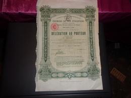 Compagnie Impériale Des CHEMINS DE FER ETHIOPIENS (1910) - Shareholdings