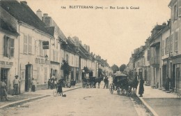 H88 - 39 - BLETTERANS - Jura - Rue Louis Legrand - Hôtel De La Poste - Frankrijk