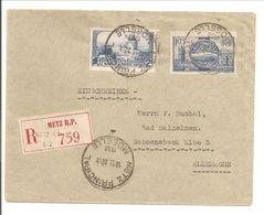 Lettre Recommandé.Metz>Deutschland Bad Salzelmen 1938 - Poststempel (Briefe)