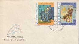 Enveloppe  FDC   1er    Jour    LAOS    Oeuvres  De   PICASSO    PHILEXFRANCE    1989 - Picasso