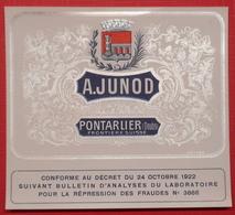 25 Pontarlier  A-JUNOT étiquette Neuve  A Voir - Pontarlier