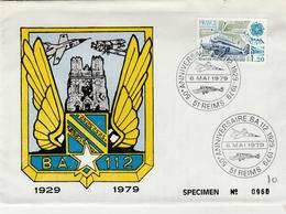 51 Reims 1979 - Anniversaire Base Aérienne - Avion Jaguar Airplane Flugzeug - Armée De L'air - Marcophilie (Lettres)