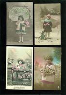 Beau Lot De 60 Cartes Postales De Fantaisie Enfant  Fillette Enfants  Mooi Lot Van 60 Postkaarten Fantasie Kinderen Kind - Cartes Postales
