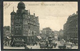 CPA - KENNINGTON - The Elephant And Castle, Très Animé - Tramways - Altri