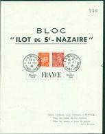FRANCE Ilot De St NAZAIRE  Grand Bloc(155x205) 11.11.44 LA BAULE.TB.cote : 110 €. - Guerres