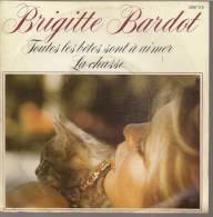 """45 Tours SP - BRIGITTE BARDOT  - POLYDOR 2097175 -   """" TOUTES LES BETES SONT A AIMER """" + 1 - Vinyl Records"""