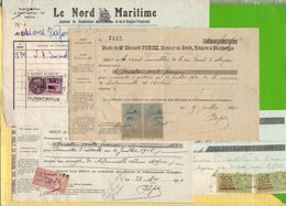 Lot De Timbres FISCAUX  Lot8 Sur Documents  10c+50c + 20c + - Revenue Stamps