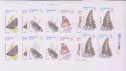 BUTTERFLIES - HONG KONG-  1979 - BUTTERFLIES SET OF 4 IN CORNER BLOCKS OF 4 MINT NEVER HINGED - Schmetterlinge