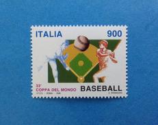 1998 ITALIA FRANCOBOLLO NUOVO STAMP NEW MNH**  - COPPA DEL MONDO DI BASEBALL - - 1991-00:  Nuovi