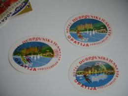 Lot 3  Opatija Hotel  Dubrovnik Et Jean Yougoslavie  Etiquette Hotel - Hotel Labels