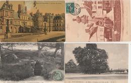 18 / 3 / 464  -  LOT  DE  8  CPA  DE  FONTAINEBLEAU  - Toutes Scanées - Cartes Postales