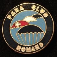 PARACHUTE - PARA CLUB ROMAND - SUISSE - SCHWEIZ - SWISS    -   (ROSE) - Parachutting