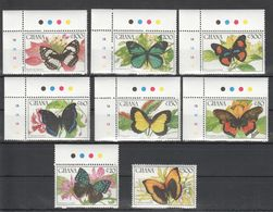 B693 GHANA INSECTS BUTTERFLIES 1SET MNH - Schmetterlinge
