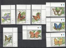 B694 SIERRA LEONE INSECTS BUTTERFLIES 1SET MNH - Schmetterlinge