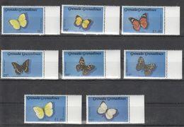 B696 GRENADA GRENADINES INSECTS BUTTERFLIES 1SET MNH - Schmetterlinge