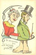 Je Ne Marche Pas.... J'ai Les Pieds Plats !!!!! - - Humor