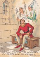 BARRE DAYEZ BARDAY ILLUSTRATEUR JEAN PARIS  HISTOIRE  DUGUESCLIN EN PRISON - Barday