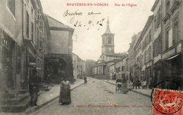 CPA - BRUYERES (88) - Aspect De La Rue De L'Eglise En 1907 - Bruyeres