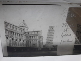 74 - Plaque De Verre - Italie - Pise - Dôme Et Tour Penchée - Glasplaten