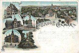 GRUSS AUS COLMAR - Carte Illustrée De 1897. - Colmar