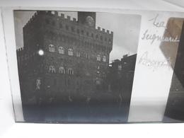88 - Plaque De Verre - Italie - Florence -  La Seigneurie - Glasplaten