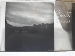 91 - Plaque De Verre - Italie - Florence, Ponte Vecchio - Glasplaten