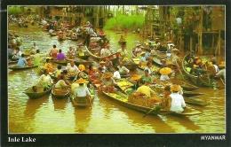 INLE LAKE, MYANMAR. UNUSED POSTCARD Jo3 - Myanmar (Burma)